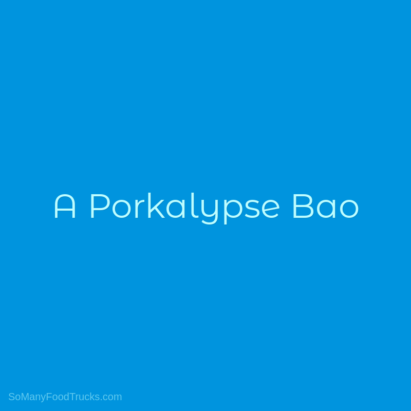 A Porkalypse Bao